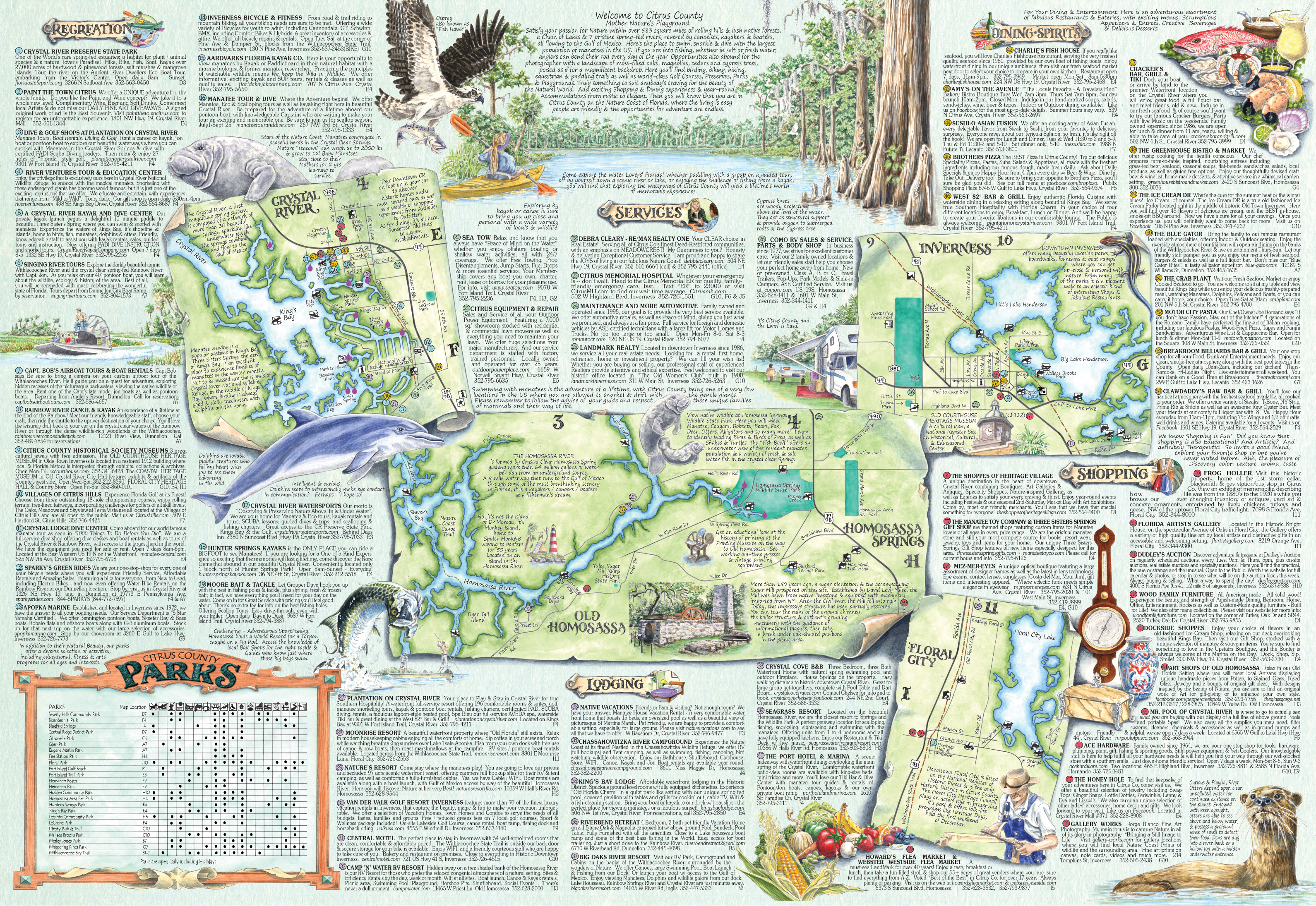 The Adventure Map Guide of Citrus Co Fl