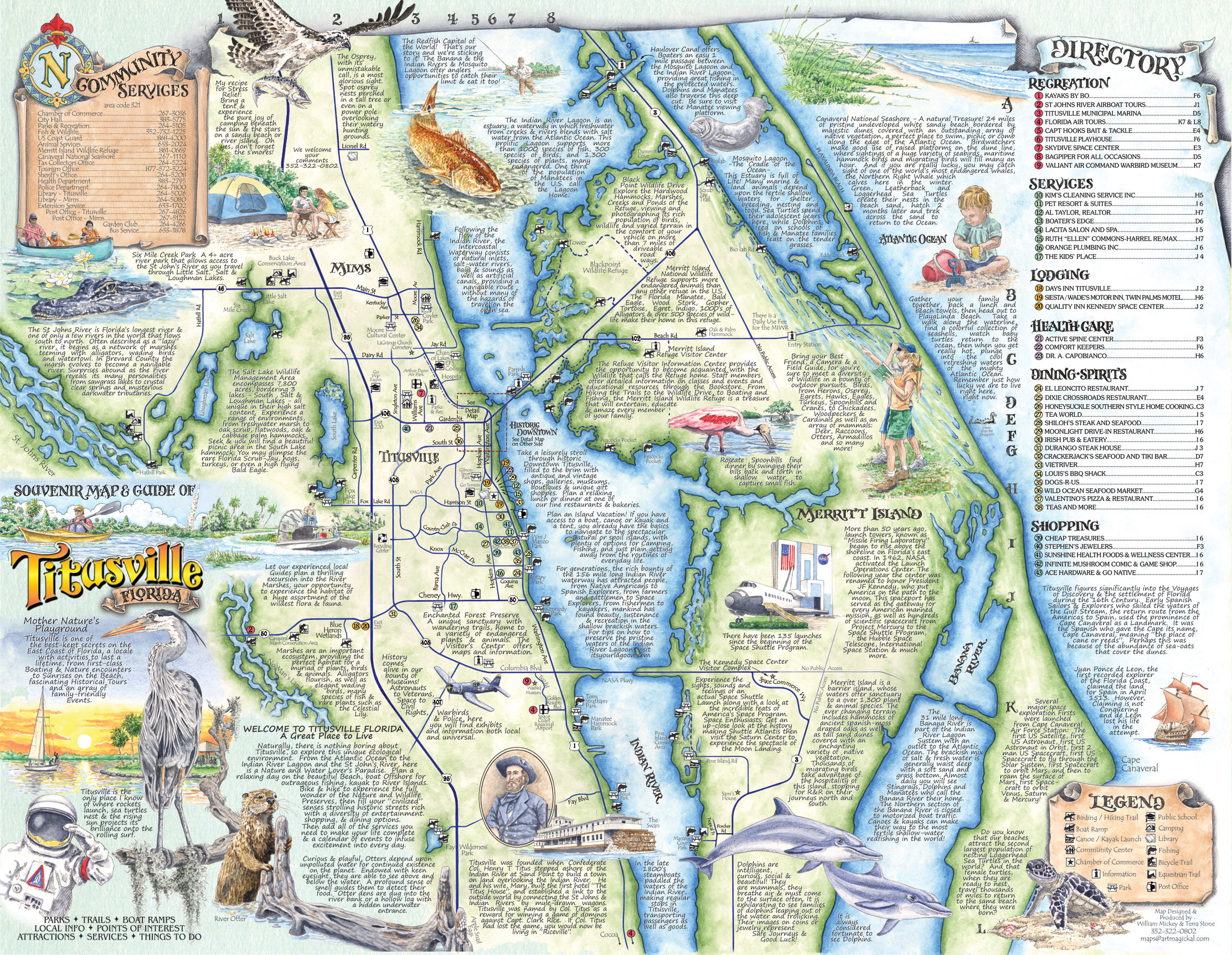 The Souvenir Map Guide Of Titusville