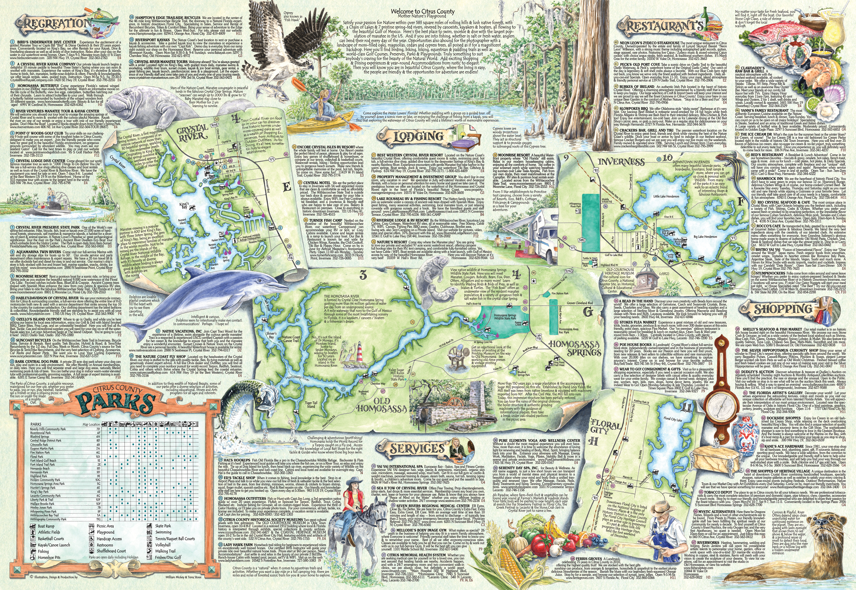 The Adventure Map  Guide Of Citrus Co Fl - Florida map crystal river